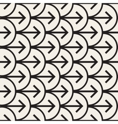 Seamless Black And White Arrows Arcs vector image vector image