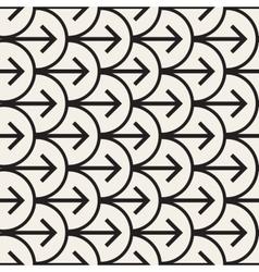 Seamless black and white arrows arcs vector