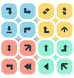 set of simple cursor icons vector image vector image