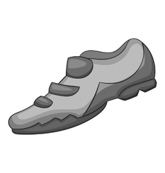 Sneakers for biker icon gray monochrome style vector