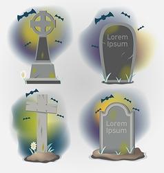 Tombstones old graveyard object set vector