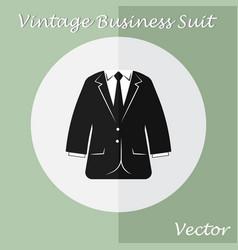 Vintage business suit or tuxedo suit vector