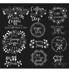 Strong coffeealways fresh shoptasty insignias vector