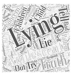 The truth about lying word cloud concept vector