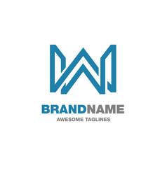 Creative letter w logo vector