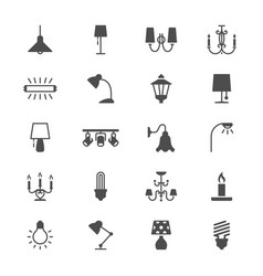 Light flat icons vector