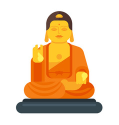 Flat style of buddha vector