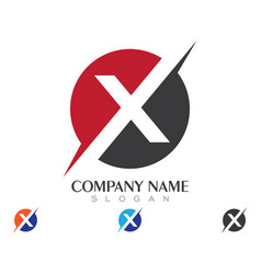 X letter logo template vector