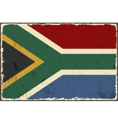 South africa grunge flag vector
