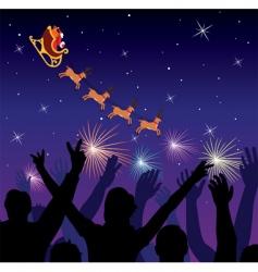 Christmas Santa silhouette vector image