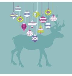 Christmas Deer Card vector image