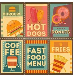 fast food brochure vector image