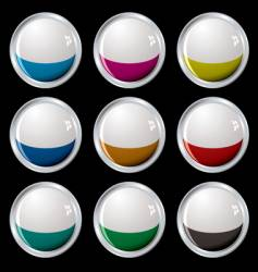 white top button silver vector image