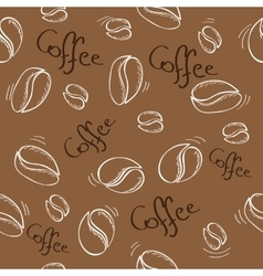 Coffee beans seamless pattern - vector
