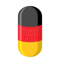 German patriotic pill germany capsule flag vector