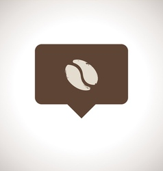 Coffee Shop Notification Icon vector image