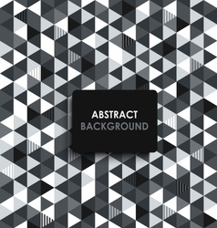 Abstract black and white background with a vector image vector image