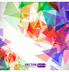 Abstract geometric background with explosion vector image vector image