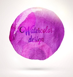 Abstract Watercolor Design vector image vector image