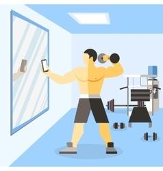 Bodybuilder narciss poster vector image