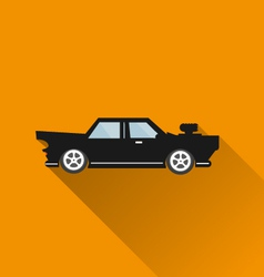 Car icon long shadow vector