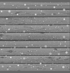 christmas snow winter wood background vector image vector image