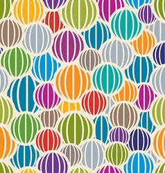 Color spheres seamless pattern vector image vector image