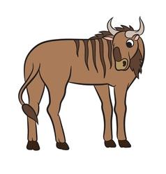 Cute antelope gnu vector