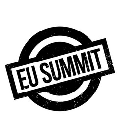 Eu summit rubber stamp vector