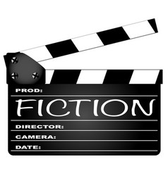 Fiction clapperboard vector