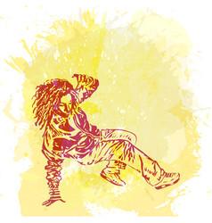 girl street dancer vector image vector image