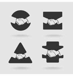 Handshake Symbol Set vector image vector image
