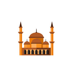 Isolated architecture flat icon mohammedanism vector