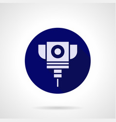 Laser cutting service blue round icon vector