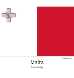 National flag of malta with correct proportions vector