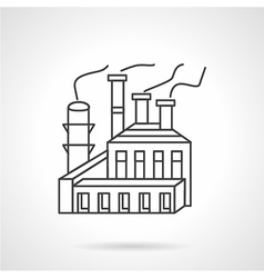 Paper and pulp factory line icon vector