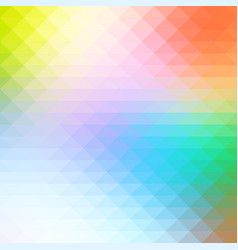 Rainbow colors rows of triangles background square vector