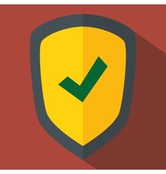 shield security system icon vector image