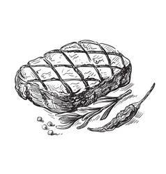 Steak symbol vector