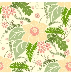 Vintage floral seamless pattern Large bouquets of vector image vector image