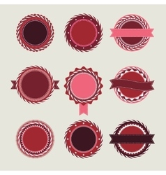 Wine vintage badges templates vector