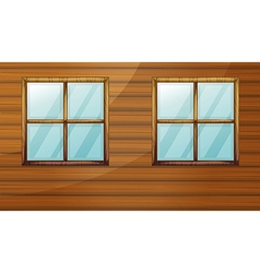 Wooden cabin vector