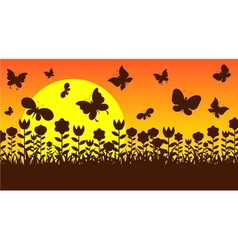 butterfly in garden vector image