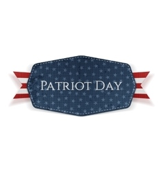 Patriot Day Text on Banner with Ribbon vector image