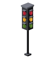 Traffic light isometric icon vector