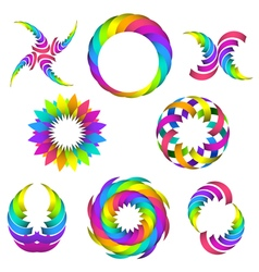 rainbow logo set for your design vector image
