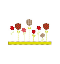 color figures flowers plants icon vector image