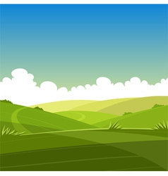 Cartoon summer landscape vector