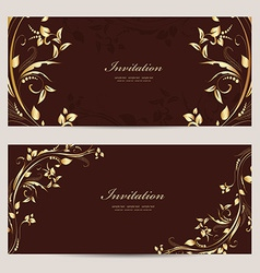 Vintage invitation cards for your design vector