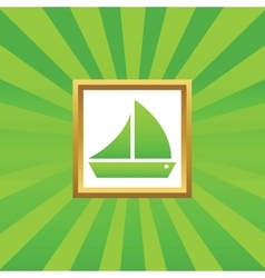 Sailing ship picture icon vector